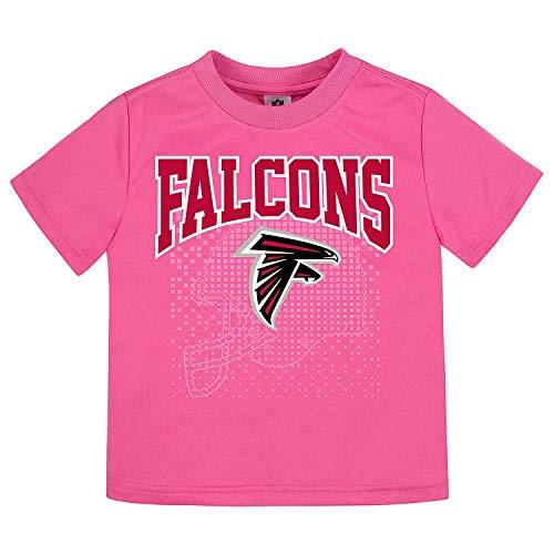 Gerber Childrenswear NFL Atlanta Falcons Girls 2018Short Sleeve Team Logo Tee, Pink, 4T