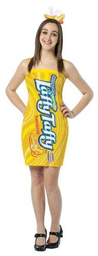 Rasta Imposta Nestle Laffy Taffy Tube Dress Banana, Yellow, Teen (Banana Laffy Taffy Adult Costumes)