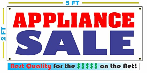 Appliance Sale All Weather Full Color Banner Sign