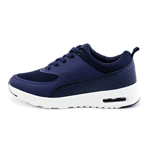 Laufschuhe Turnschuhe Unisex Navy Sneaker Schnür Trendige Damen Fitness Sport w0EZ7F