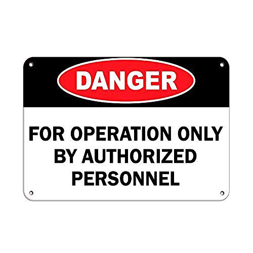 LMCR Danger for Operation Only by Authorized Personnel Iron Poster Painting Tin Sign Vintage Wall Decor for Cafe Bar Pub Home