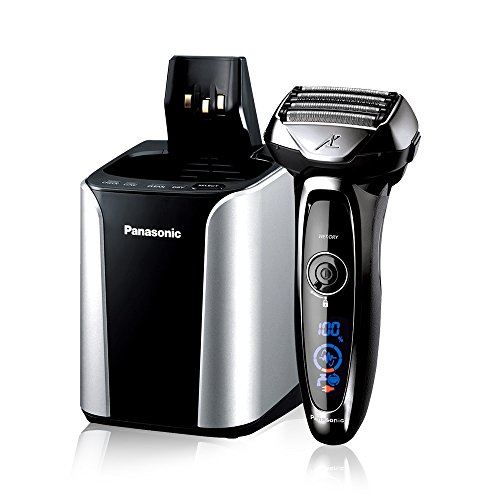 Panasonic ES-LV95-S Arc5 Electric Razor, Men's 5-Blade Cordless with Shave Sensor Technology and Wet/Dry Convenience, Premium Automatic Clean & Charge Station Included.