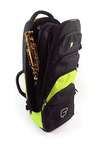 Fusion Premium Series (FB-PW-02-L) - Tenor Saxophone Gig Bag, Black/Lime by Fusion (Image #4)