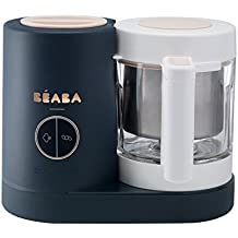 BEABA Babycook Neo, Glass 4 in 1 Steam Cooker & Blender, Comes with Stainless Steel Basket and Reservoir, 5.5 Cup Capacity (Midnight)