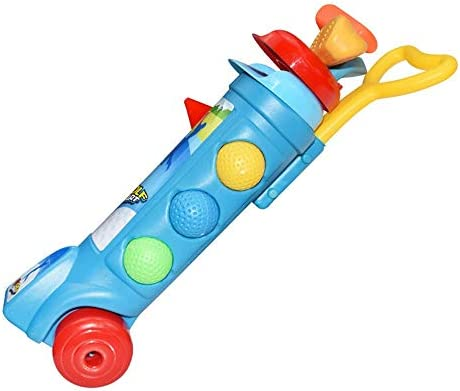 子供用のゴルフセット 1、2、3、4、5、6歳の男の子と女の子のための適切なアウトドアスポーツのおもちゃ、子供のためのゴルフクラブセット キッズ ゴルフ セット (Color : Blue, Size : 9.5X39CM)
