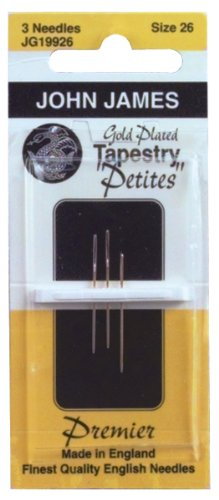 Colonial Needle Gold Tapestry Petites Hand Needles, Size 26, 3-Pack JG199-26