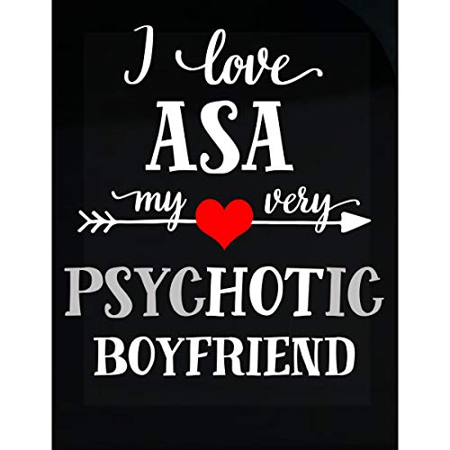 Inked Creatively I Love ASA My Very Psychotic Boyfriend. Gift for Her - Sticker