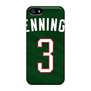 Shock-dirt Proof Milwaukee Bucks Case Cover For Iphone 5/5s