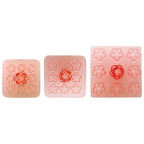 JEM 103FF050 Multiple Daisy/Blossom Fondant Cutter for Cake Decorating-Set of 3, Standard, Pink