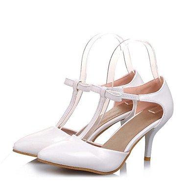 Las mujeres sandalias de verano PU Confort confort informal plana negra US8 / EU39 / UK6 / CN39