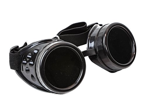 Plain Black Cosplay Goggles Mad Scientist Wielder Glasses DIY Halloween (Guys Halloween Costumes Diy)
