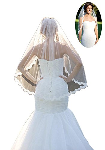 Mollybridal Layer Wedding Fingertip Length product image