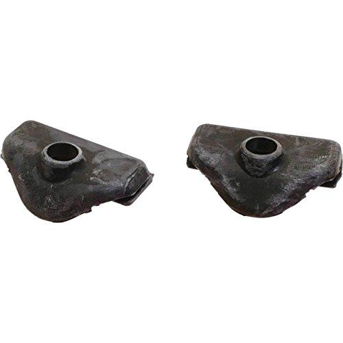- MACs Auto Parts 44-43324 Ford Mustang Fastback Quarter Window Lower Pivot Covers - Black Plastic