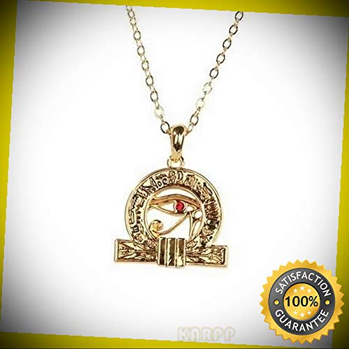 T Eye of Horus Pendant Necklace Fashion Jewelry Alloy Perfect Indoor Collectible Figurines ()
