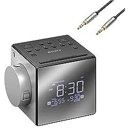 Sony Compact AM/FM Dual Radio Alarm Clock, Silver