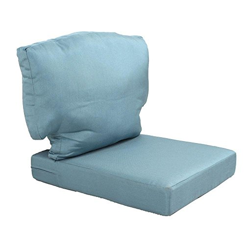 Martha Stewart Living Charlottetown Washed Blue Replacement Outdoor Chair Cushion (Furniture Martha Replacement Stewart Patio Cushions Living)