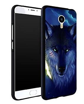 Prevoa Meizu M2 Note Funda - Colorful Hard Plastic Funda Cover Case para Meizu M2 Note 5.5 Pulgada Smartphone - 6