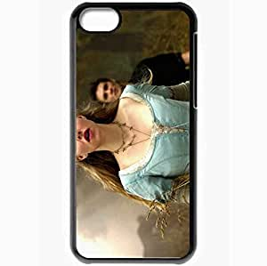 Personalized iPhone 5C Cell phone Case/Cover Skin Amanda Seyfried Black