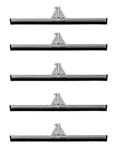 Rubbermaid Commercial Heavy-Duty Floor Dual Moss Squeegee, 30-Inch Length x 3.25-Inch Width x 5.5-Inch Height, Black (FG9C2900BLA) (5 PACK)