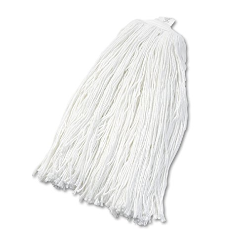 Boardwalk UNS 2032R BWK2032RCT Cut-End Wet Mop Head, Rayon, No. 32, White (Pack of 12) by Boardwalk