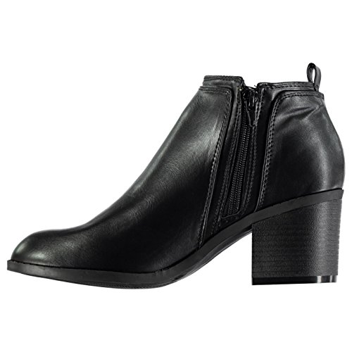 Zipped Womens Ankle Flat Zip Heeled Boots Rossini Miso Black Ezdqwz