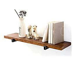 Fashion Solid Wood Wall Stands | Metal Iron Shelves Wall Mount Partitions | Loft Cube Wall Hangings As Bookshelf Storage Rack | Floating Unit Frames | Vintage Industrial Style Shelf ( Size : 60x20cm )