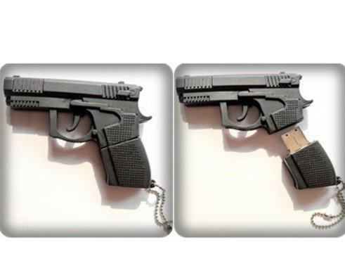 8GB Black Gun Shape Flash Drive