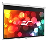 Elite Screens Manual SRM Series, 100-inch 16:9, Slow Retract Pull Down Projection Projector Screen, Model: M100XWH2-SRM