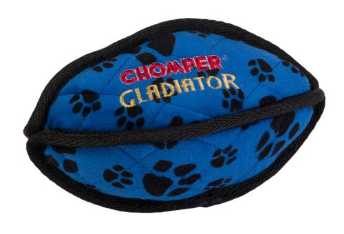 Boss Pet Chomper Gladiator Tuff Football Toy for Pets, Assorted Colors