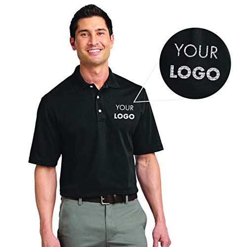 Custom Embroidered Queensboro Lift Luxury Hybrid Jersey Polo Black