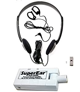 SuperEar Sonic Ear Personal Sound Amplifier Model SE5000 with Directional Compact Swivel Microphone Increases Ambient Sound 50dB, facilitates CMS MDS 3.0/ADA/ACA 1557 Auxiliary Aid Compliance