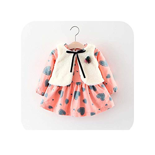 MUZIBLUE Baby Girl Clothes 2018 Winter Baby Girls Princess Dress Long Sleeve Dress Party Dresses Baby Clothes,Photo Color N5022,6M