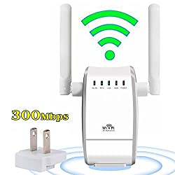 YETOR Wireless Router Wi-Fi Range Extender Amplifier Wireless Access Point / Repeater Mode Mini AP Router Network Signal Booster Dual External Antenna Complies IEEE802.11n/g/b with WPS