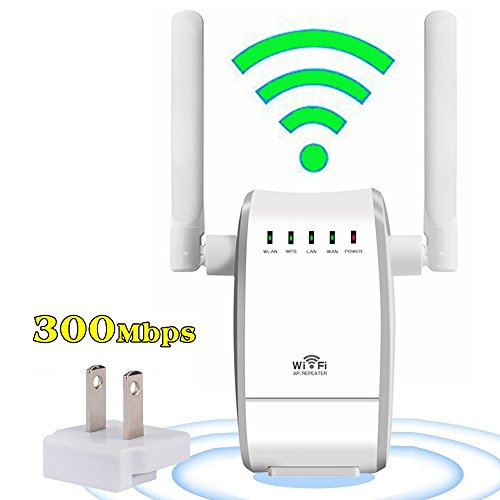 YETOR 300 WiFi Range Extender Booster Wireless Router WiFi Access Point/ Router/ Repeater Modes (Two Fast Ethernet Ports, Two Antennas, WPS, 2.4GHz, Support 802.11n/b/g (Verizon Wireless Repeater)