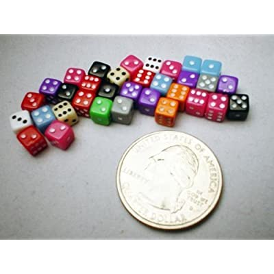 Koplow Games KPL10795 Tiny Dice Deluxe Assorted Colours (30 Pieces), Opaque: Toys & Games