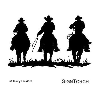 Cowboy Cowboys Horse Riders Western Wall Decal Home Decor Silhouette
