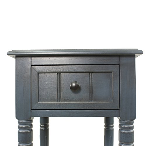 Décor Therapy FR1548 Simplify One Drawer Square Accent Table, Antique Navy by Décor Therapy (Image #4)