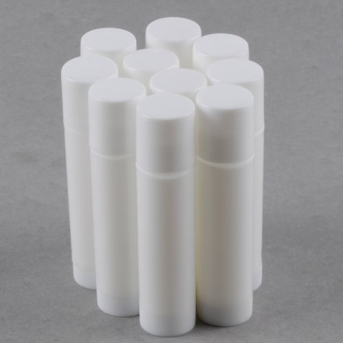 50 White Empty Lip Balm Tubes Containers by Upstore