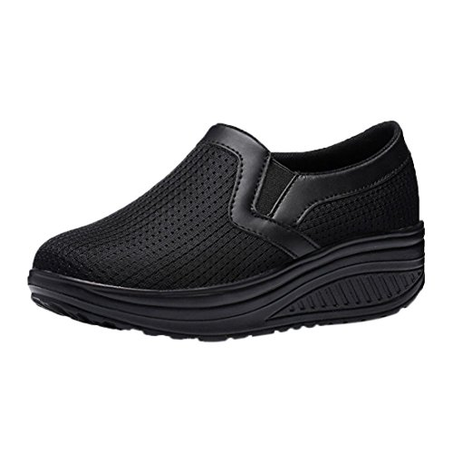 Platform Thick Running Lightweight HARRYSTORE Shoes Black Bottom Hiking Gym Wedge Sport Outdoor Walking Fitness Women Sneakers Clearance Trainers Shoes Girls fg4Tqxx