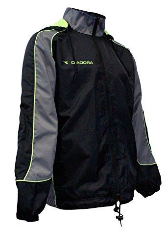 Diadora Men's Coprire Rain Jacket, Black, M