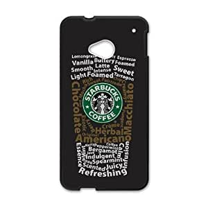 HTC One M7 Cell Phone Case Black Starbucks 4 Phone cover L7756465