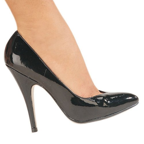 Pleaser Women's Seduce-420V/B Pump,Black Patent,13 M US - 420 Black Leather