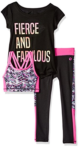 The Children's Place Little Girls' Activewear Set, Black 82781, S (5/6)