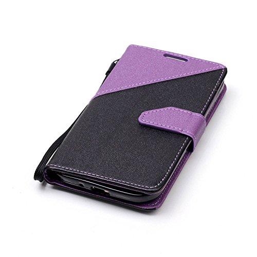 Sunroyal ® [Anti-Gota] PU Cuero para Galaxy S4 Funda Ultra Slim Flip Caso Leather Samsung S4 Case Wallet Card Cubierta Protectora Soporte [Billetera con Tapa para Tarjetas] Empalme Contraportada Carca A-09
