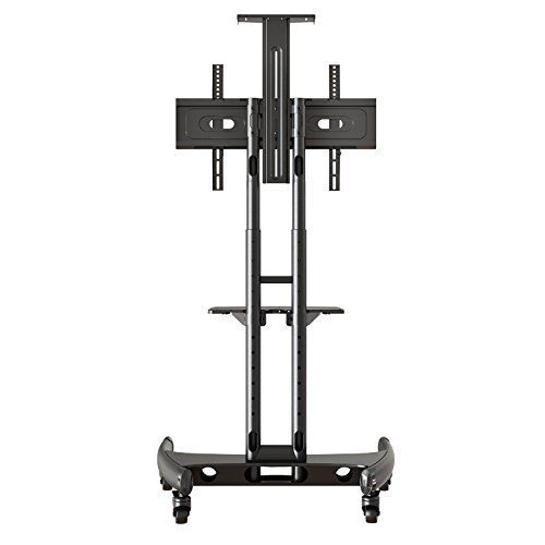 Rocelco VSTC Adjustable Height Mobile TV Stand, for 32-70 inch Flat Screen TVs, with with AV and Webcam Shelf - Black by Rocelco (Image #2)