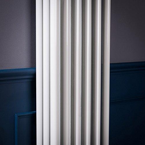 Bern Radiador Calefactor Diseño Vertical Vintage 1800 X 290 mm radiador blanco 1367 W: Amazon.es: Hogar