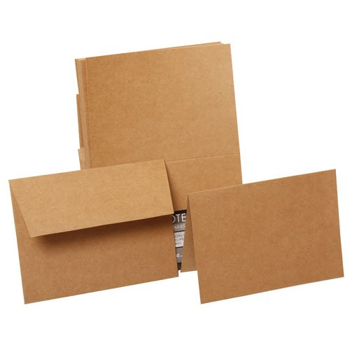 Recycled Blank Cards (JAM Paper Blank Stationery Set - 4