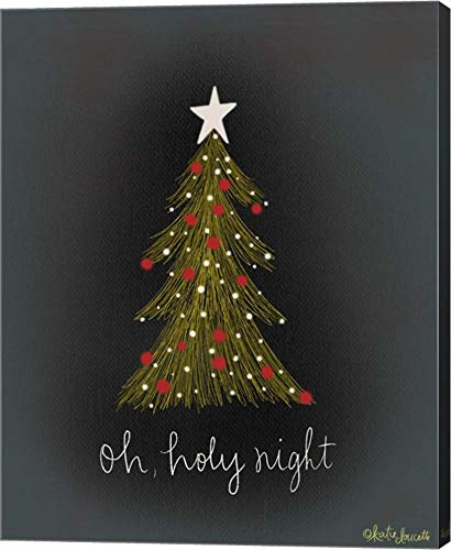 Oh Holy Night Tree by Katie Doucette Canvas Art Wall Picture, Gallery Wrap, 16 x 20 - Night Oh Holy Tree