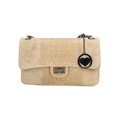 Pelle Fango A Spalla Italy Borse Made Bag Chicca Cm Borsa In 28x16x8 wqZ1W7