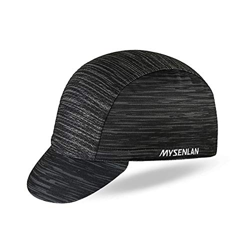 Mysenlan Men's Outdoors Sports Cycling Cap Bike Skull Breathable Sun Caps Riding Hat for Men Black, Medium ()
